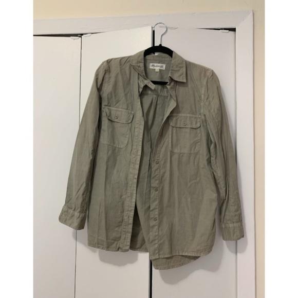 Madewell Tops - Madewell Olive Green Shirt